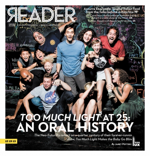 Neo Futurists on the cover of Chicago Reader