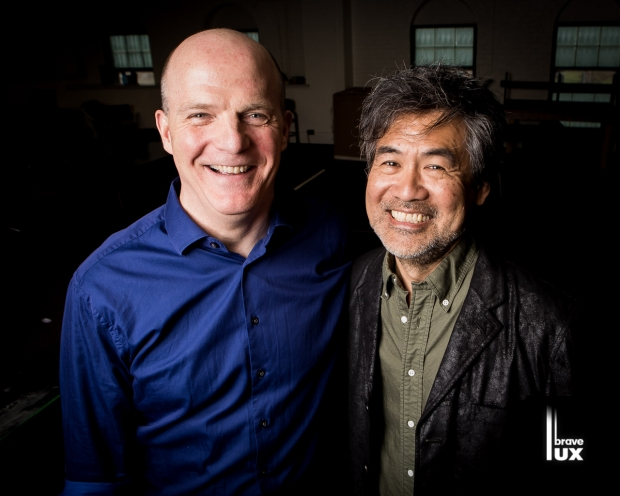 Court Theatre's Artistic Director, Charles Newell with playwright David Henry Hwang