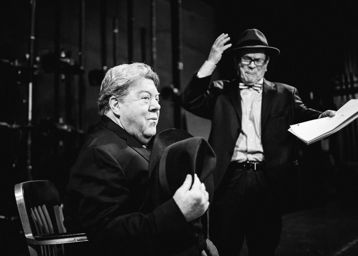 TIm Kazurinski and George Wendt in Funnyman at Northlight Theatre