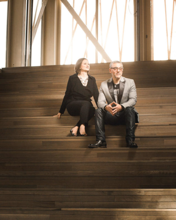 Michael Halberstam and Kate Lipuma of Writers Theatre for Modern Luxury Magazine